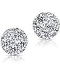 Anne Sisteron - 14kt White Gold Luxe Diamond Stud Earrings - Lyst