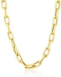 Anne Sisteron - 14kt Yellow Gold Chain Link Luxe Lillian Necklace - Lyst