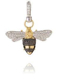 Annoushka - Mythology 18ct Gold Diamond Bumble Bee Pendant - Lyst
