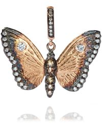 Annoushka - Mythology 18ct Rose Gold Diamond Butterfly Pendant - Lyst