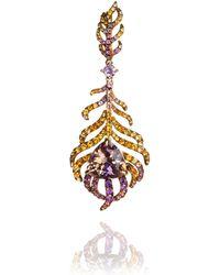 Annoushka - Unique Tsar Feather 18ct Gold Ametrine Pendant - Lyst