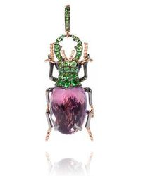 Annoushka - Mythology 18ct Rose Gold Amethyst Beetle Charm - Lyst