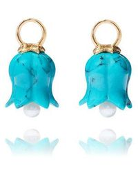 Annoushka - 18ct Yellow Gold And Turquoise Tulip Earring Drops - Lyst