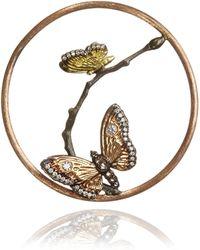 Annoushka | 18ct Rose Gold Diamond Butterfly Hoopla | Lyst