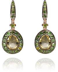 Annoushka - Dusty Diamond Olive Quartz Earring - Lyst