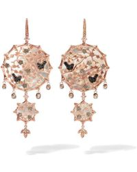 Annoushka - Dream Catcher 18ct Rose Gold Pearl Large Earrings - Lyst