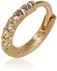 Annoushka - Dusty Diamonds 18ct Gold Diamond 10mm Hoop - Lyst