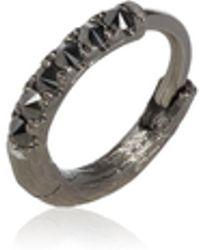 Annoushka - Dusty Diamonds 18ct White Gold Black Diamond 10mm Hoop - Lyst
