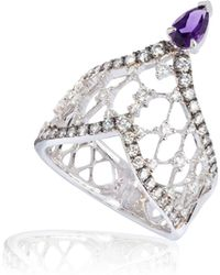 Annoushka - Imperial 18ct White Gold Amethyst Ring - Lyst