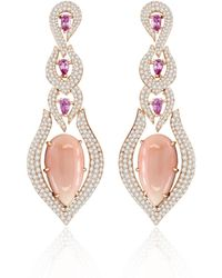 Annoushka - Sutra Coral & Sapphire Earrings - Lyst