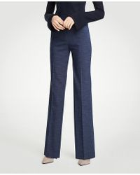 Ann Taylor | The Petite Trouser In Textured Stretch | Lyst