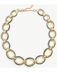Ann Taylor - Enamel Edged Statement Necklace - Lyst