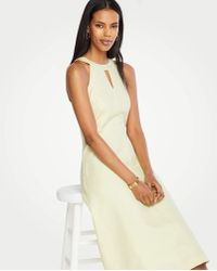 9803944fe1 Lyst - Ann Taylor Linen Blend Sheath Dress in White
