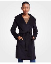 Ann Taylor - Tall Shawl Collar Wrap Coat - Lyst