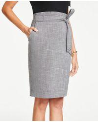c2aa4bdc6 Ann Taylor Shimmer Jacquard Pencil Skirt in Black - Lyst