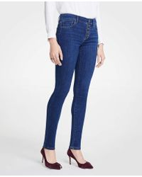 Ann Taylor - Modern Button Fly All Day Skinny Jeans - Lyst