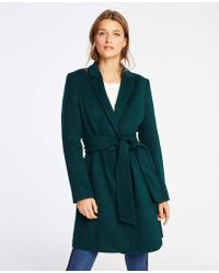 Ann Taylor - Petite Belted Chesterfield Coat - Lyst