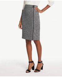 0fc1aae7028276 Ann Taylor Sequin Pencil Skirt in Metallic - Lyst