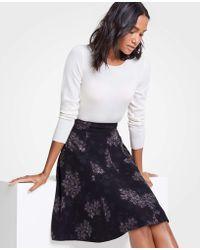 Ann Taylor - Crocus Floral Flare Skirt - Lyst