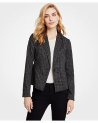 Ann Taylor - Sketched Plaid One Button Jacket - Lyst