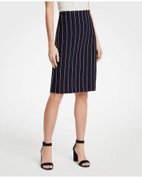 Ann Taylor - Pinstripe Ponte Knit Pencil Skirt - Lyst