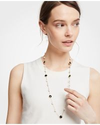 Ann Taylor - Sphere Station Necklace - Lyst