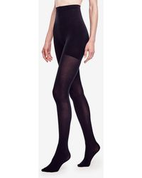 643ed333b2765 Hue Opaque Tights Sheer To Waist in Blue - Lyst