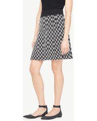 Ann Taylor - Geo Jacquard Sweater Skirt - Lyst