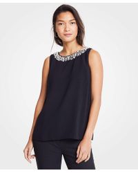 Ann Taylor - Pearlized Neck Shell - Lyst