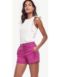 Ann Taylor - Petite Textured City Shorts - Lyst