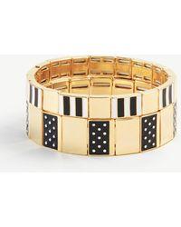 Ann Taylor - Stripe Dot Enamel Stretch Bracelet Set - Lyst
