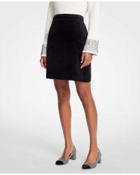 Ann Taylor - Velvet A-line Skirt - Lyst