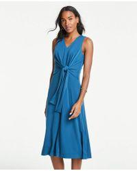 c51a4a3bc7b35b Ann Taylor Petite Lace Shift Dress in Blue - Lyst