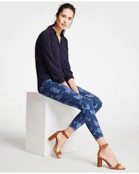 Ann Taylor - Curvy Island Floral All Day Skinny Crop Jeans - Lyst