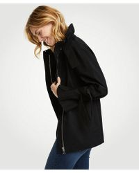 Ann Taylor - Doublecloth Bow Sleeve Coat - Lyst