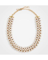 Ann Taylor - Crystal Necklace - Lyst