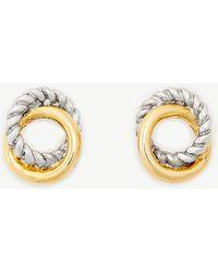 Ann Taylor - Twisted Metal Stud Earrings - Lyst