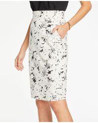 0472f96bf LOFT Midnight Tweed Skirt in Black - Lyst