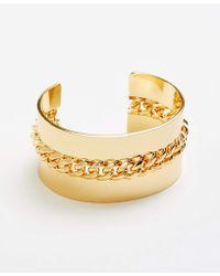 Ann Taylor - Metal Chain Cuff Bracelet - Lyst