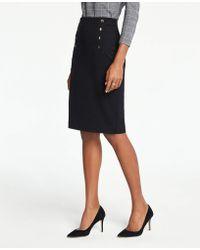 Ann Taylor - Sailor Pencil Skirt - Lyst