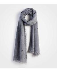 Ann Taylor - Pearlized Blanket Scarf - Lyst