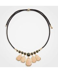 Ann Taylor - Hexagon Stone Statement Necklace - Lyst