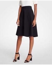 Ann Taylor - Seamed Ponte Full Skirt - Lyst