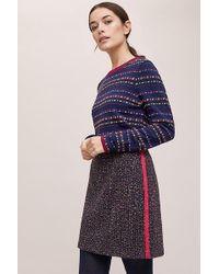 Helene Berman - Striped-tweed Mini Skirt - Lyst