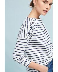 Stateside - Boat Neck Stripe Top - Lyst
