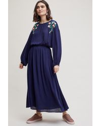 Moon River - Gynna Ruffle Floral Embroidered Dress - Lyst