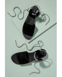 H by Hudson - Calia Suede Ankle-tie Sandals - Lyst