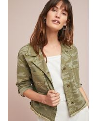 Sanctuary - Cropped Camo Jacket - Lyst
