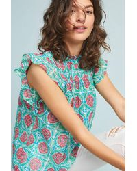 Anthropologie - Helena Ruffled Blouse - Lyst