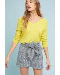Cartonnier - Gingham Tie-waist Shorts - Lyst